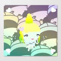 Summer Cream Kawai Canvas Print