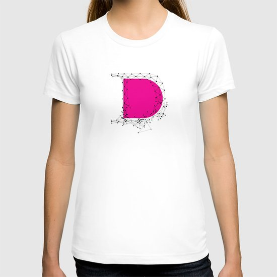 D (abstract geometrical type) T-shirt