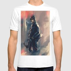DARYL DIXON - THE WALKING DEAD Mens Fitted Tee White SMALL