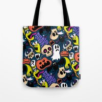 Spooky Pattern Tote Bag