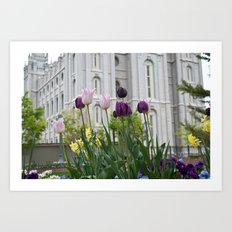 Temple Flowers 2 Art Print