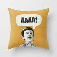 AAAA! (Golden) Throw Pillow