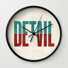 Devil in the detail. Wall Clock