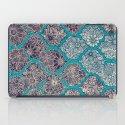 Moroccan Floral Lattice Arrangement - teal iPad Case