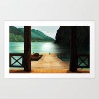 Art Print featuring Lake by Viggart