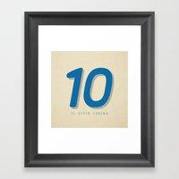 10 Il Divin Codino Framed Art Print