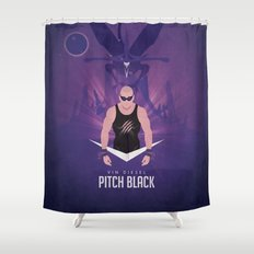 Pitch Black - Badass Riddick Shower Curtain