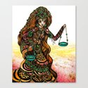 Astrology Illustration Series-Libra Canvas Print