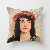 Tea Lady Throw Pillow