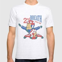 Second Breath Mens Fitted Tee Ash Grey SMALL