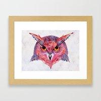 Owla owl Framed Art Print