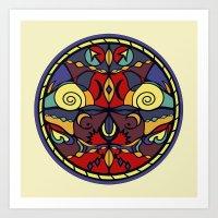 Surface Symmetry Art Print