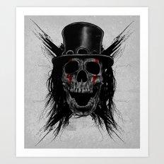 Skull Hat Art Print