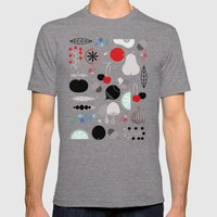 Mushroom Berries Nuts An… Mens Fitted Tee Tri-Grey SMALL