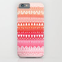 iPhone & iPod Case featuring Triangle Gradient Pink Mix by Katy Clemmans