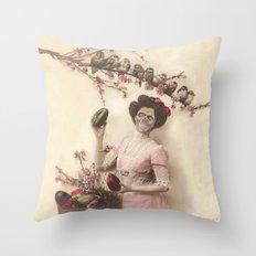 Mademoiselle skull Throw Pillow