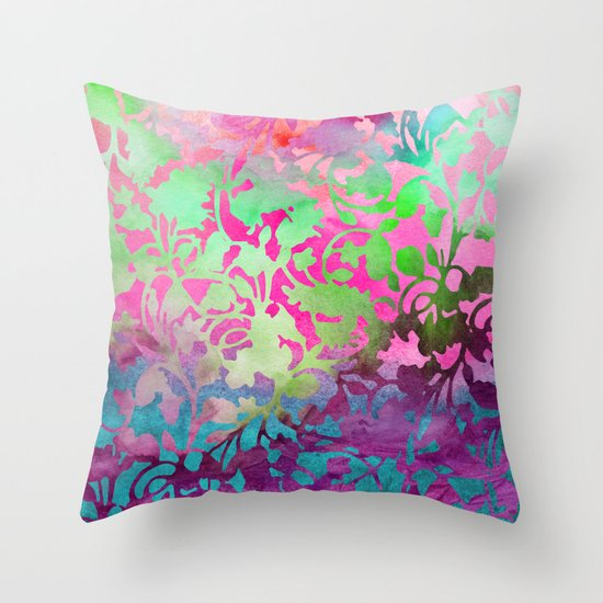 Earth Watercolor by Jacqueline Maldonado & Garima Dhawan Throw Pillow