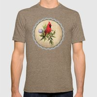 Cardinal Mens Fitted Tee Tri-Coffee SMALL
