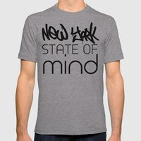NY State of Mind Mens Fitted Tee Athletic Grey SMALL