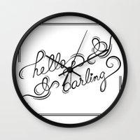 hello darling Wall Clock