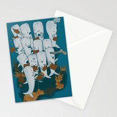 Whale songs Stationery Cards
