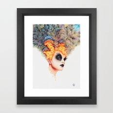 Burning Girl Framed Art Print