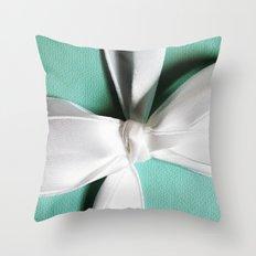 Tiff's Blue Box Throw Pillow