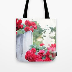 On the Fence Tote Bag