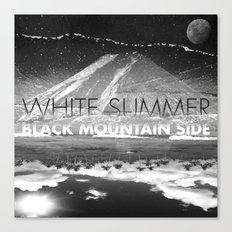 White Summer / Black Mountain Side Canvas Print