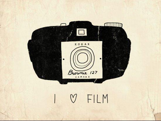 I Love Film Art Print
