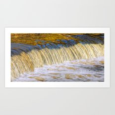 Flow Of Gold  Art Print