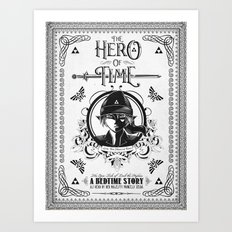 Legend of Zelda Link The Hero of Time Minimal Edition Art Print