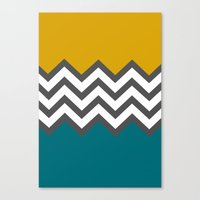 Color Blocked Chevron Canvas Print