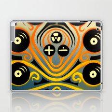 DJ Octopus in yellow Laptop & iPad Skin