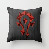 for the horde Throw Pillow