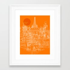 Paris! Orange Sun Framed Art Print