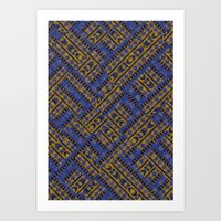 Blue Tribe Art Print