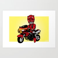 BusterRed Mini-Print Art Print