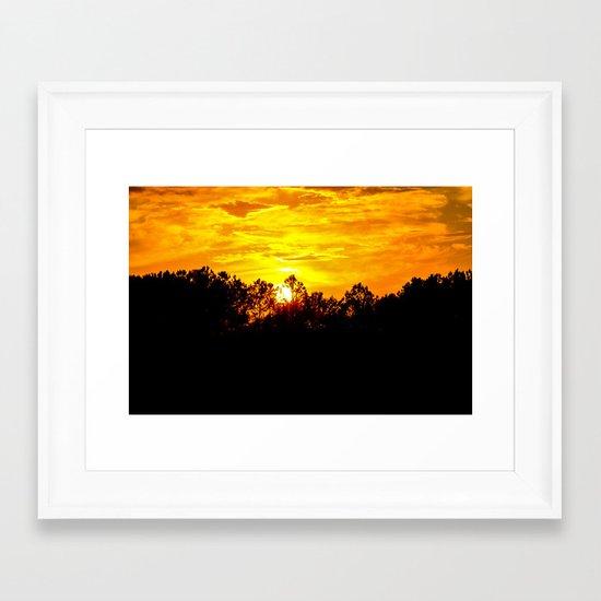 Blazing Sky Framed Art Print