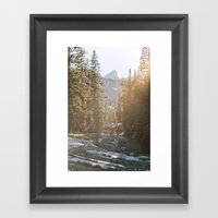 Sunset In The Backcountr… Framed Art Print