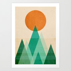 No mountains high enough Art Print