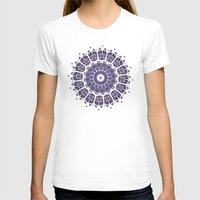 Kaleid Womens Fitted Tee White SMALL