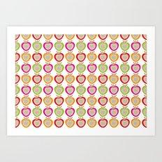 Juicy Apples Art Print