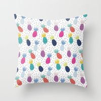 Tropical Summer Throw Pillow
