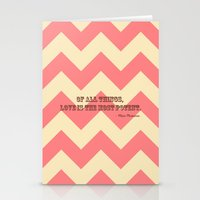 Chevron Love Stationery Cards