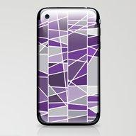 Purple And Grey iPhone & iPod Skin