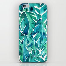 Split Leaf Philodendron – Teal iPhone & iPod Skin