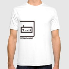 retro gaming Mens Fitted Tee SMALL White