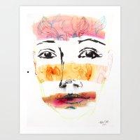 Head Shot #3 Art Print