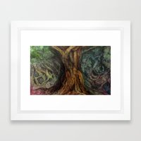 Watercolour Tree Framed Art Print